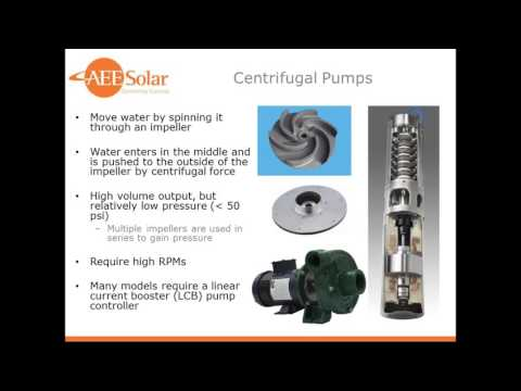 Water Pumping with PV