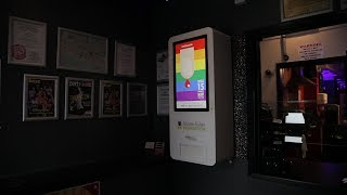 HIV test vending machine in Brighton Sauna