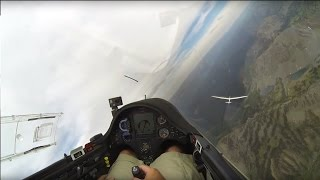 Glider Following Arcus Super Ship Over Salt River Mountains
