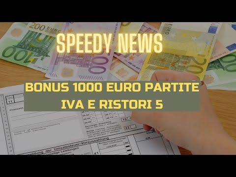 BONUS 1000 EURO PARTITE IVA FONDO PERDUTO RISTORI 5 ULTIME NOTIZIE PER IMPRESE ED I PROFESSIONISTI