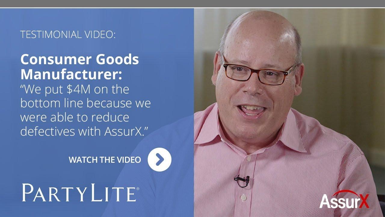 AssurX Customer Testimonial: PartyLite