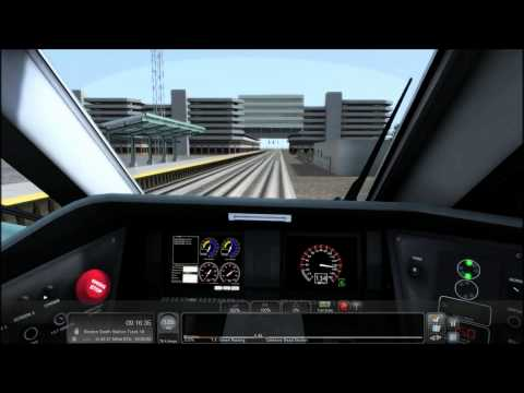 TS2015 HD: Amtrak Acela Express Train 2190 Cab Ride (New Haven - Boston) Timelapse 4x