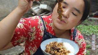 苗大姐茄子又蒸又炒,米饭吃一碗都不够,菜名帮起个吧