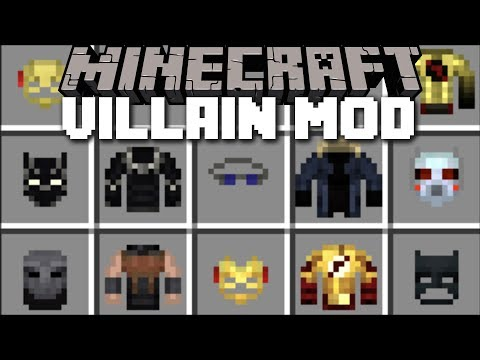 Minecraft VILLAINS MOD / FIGHT AND SURVIVE THE SUPERHERO BATTLE!! Minecraft