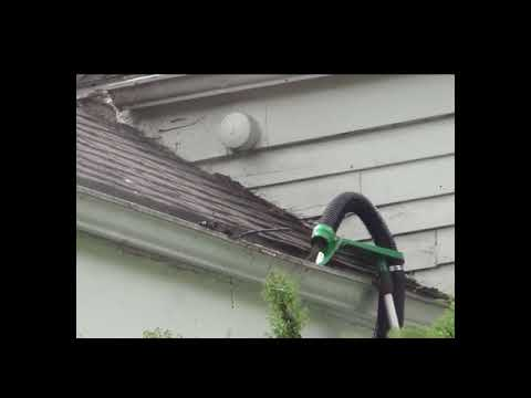 The Gutter Viper to clean two story  gutters without a ladder, available at www.ViperToolCompany.com