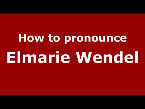 How to pronounce Elmarie Wendel American EnglishUS   PronounceNames.com