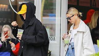Justin Bieber And Hailey Baldwin Enjoy A Very Fashionable Tea Time