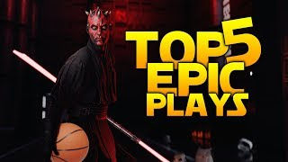 MAUL & KYLO ALLEY-OOP: Battlefront 2 Top 5 Plays
