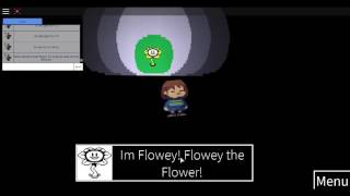 Undertale easter eggs in ROBLOX!(Flowey easter egg in ROBLOX undertale)