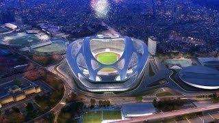New National Stadium in Tokyo Japan. Summer Olympic 2020. 新国立競技場 [HD] Stadium Tokyo Japan 新国立競技場