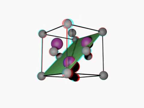crystal zincblende - 3D - anaglyphe
