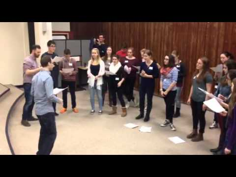 Workshop at German School Washington with a capella band Vocaldente from Germany