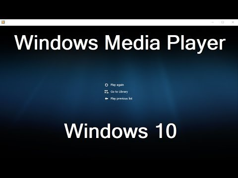 Windows Media Player In Windows 10