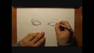 """#3 How to draw eyes - Tutorial on Facebook art page """"Le Graforecensioni di Alberto Zuccalà"""""""