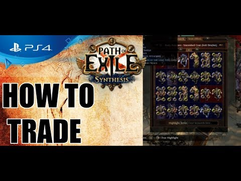 Path of Exile PS4 - How to TRADE (Beginner guide) - YouTube