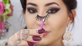 ♡ How To Apply False Lashes ♡ TUTORIAL   Melissa Samways ♡ thumbnail
