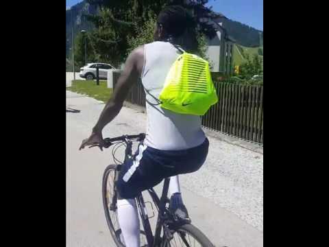 Emmanuel Adebayor enjoying in Kranjska Gora