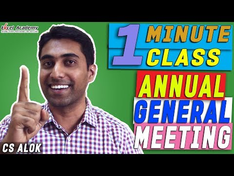Annual General Meeting : 1 Minute class