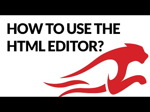 How To Use The HTML Editor?