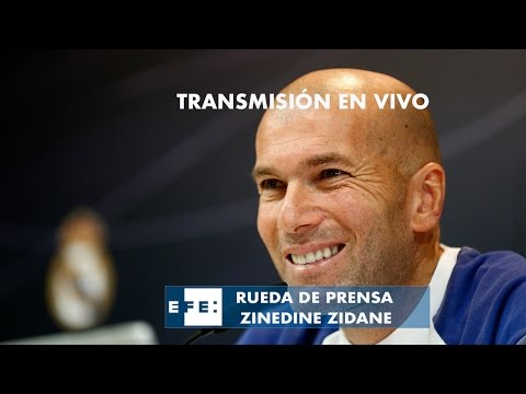 R.de P. del entrenador del Real Madrid  previa al partido de Champions