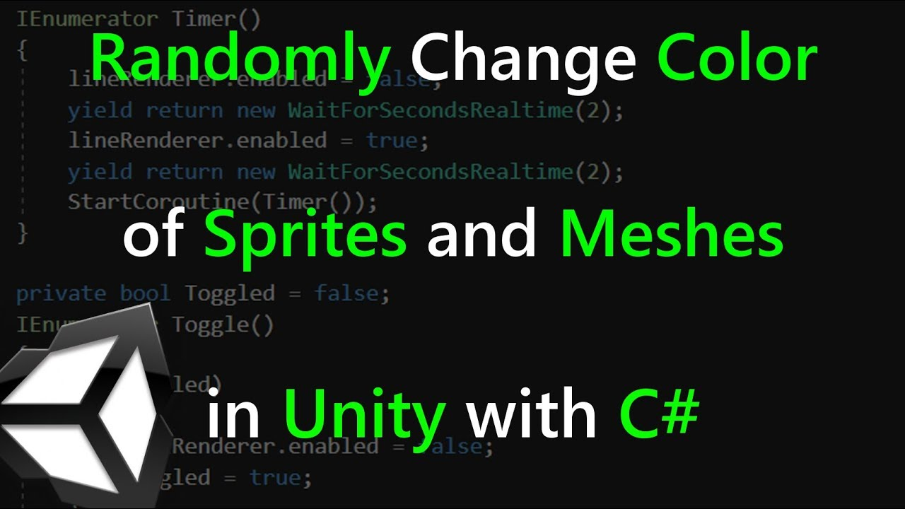 Randomly Change Color of Sprites and Meshes in Unity C#