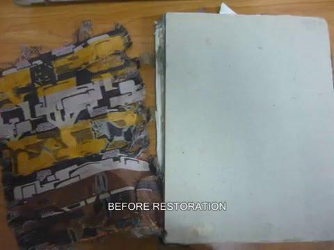 Restoration of cloth binding book ترميم كتاب مجلد بالقماش