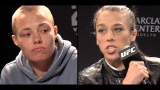 Rose Namajunas vs. Joanna Jedrzejczyk: No More Head Games?  (UFC 223 Press Conference)
