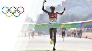 Sumgong is first Kenyan woman to win Olympic marathon gold