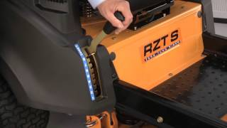 how to remove the deck on rzt zero turn riding mowers