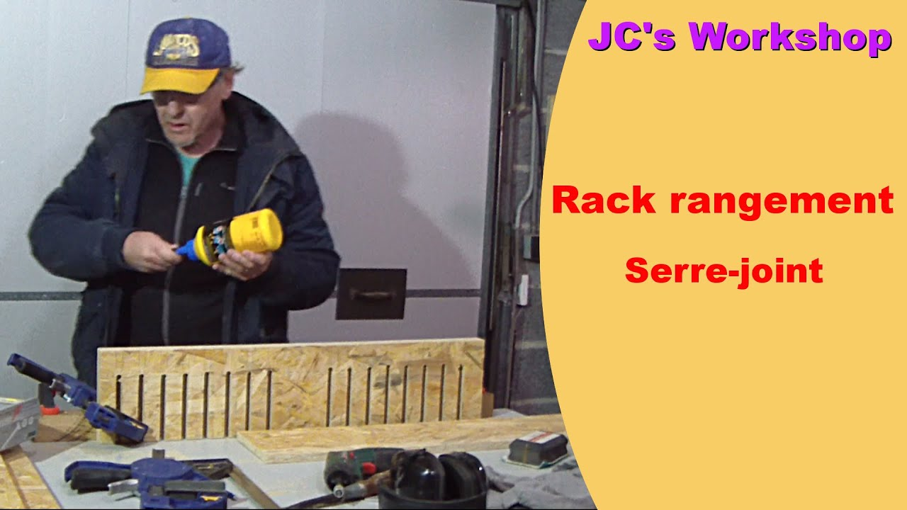 comment faire un rack de rangement pour serre joint travail du bois 18 youtube. Black Bedroom Furniture Sets. Home Design Ideas