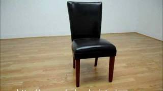 Wholesale Interiors Sofi Dark Brown Dining Chair