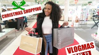 christmas shopping vlogmas day 23