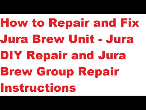How to Disassemble Jura Brew Group to Fix ERROR 8 | Jura Brew Group Repair