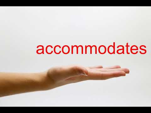 How to Pronounce accommodates - American English