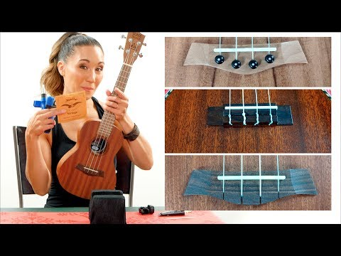 How to Restring Your Ukulele - 3 Different Bridges + 2 Different Headstocks