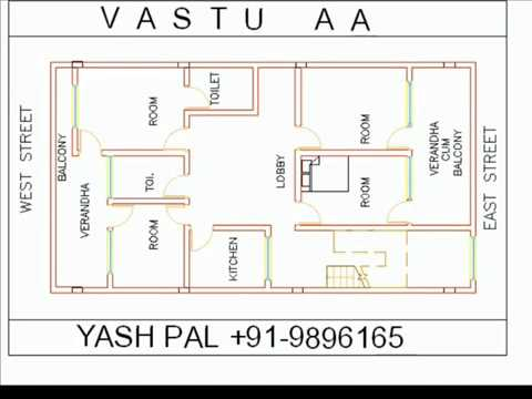 VASTU MAP DRAW WITH IN 40 SECONDS EAST FACE 4