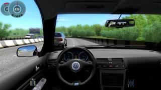 083 let s play city car driving vw golf r32