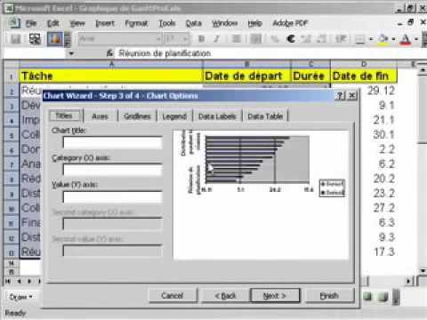 Crer un graphique de gantt avec microsoft excel youtube crer un graphique de gantt avec microsoft excel ccuart Choice Image