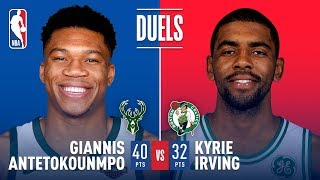 Giannis (40 Pts) and Kyrie (32 Pts) Duel in Boston | December 4, 2017