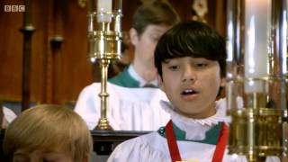 Video, Extract from documentary, Choristers of Salisbury Cathedral rehearsal Hear my prayer