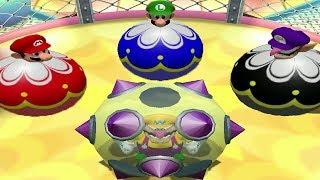 Mario Party 4 Mini Games - Wario Vs Mario Vs Luigi Vs Waluigi (Master CPU)