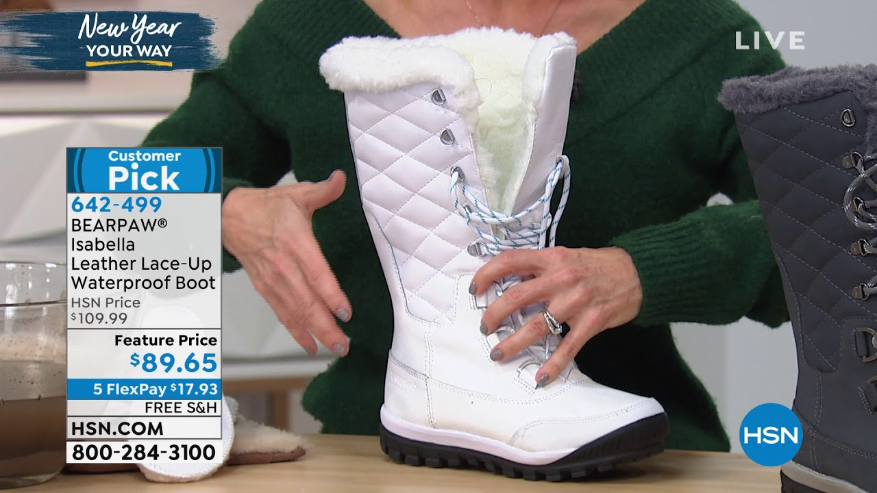 BEARPAW Isabella Leather Laceup