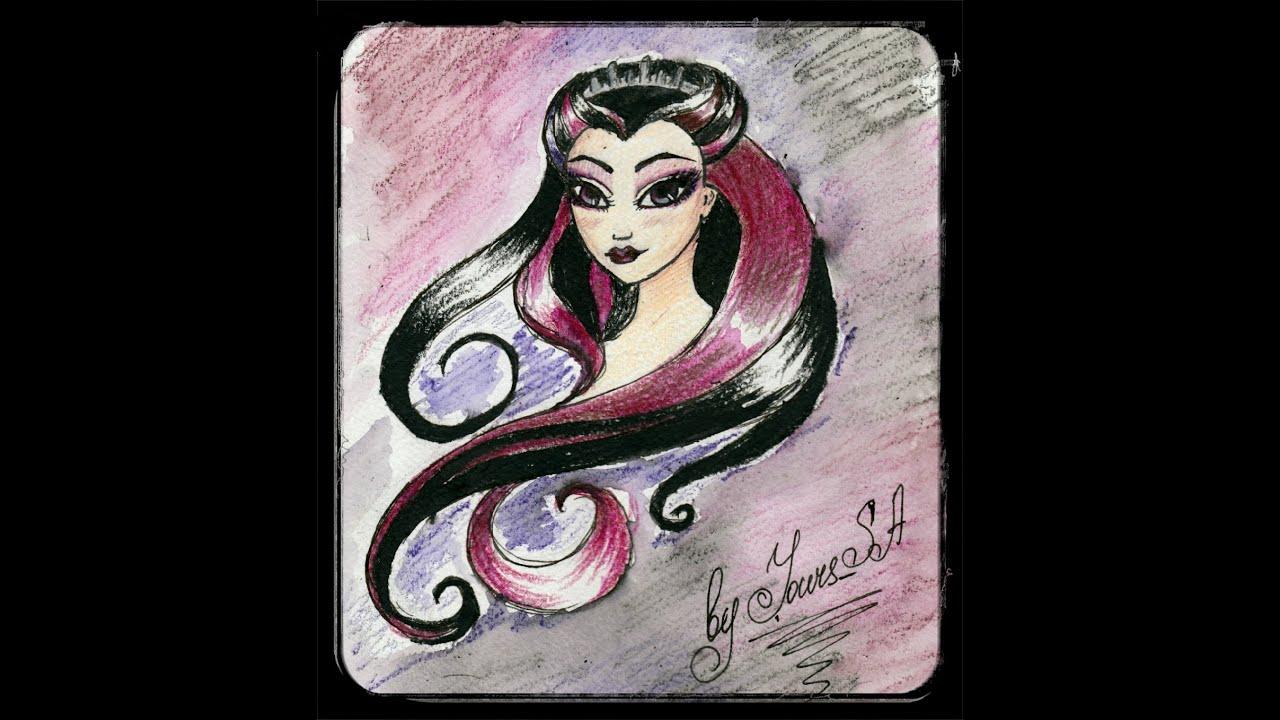 Рисуем портрет Raven Queen - YouTube