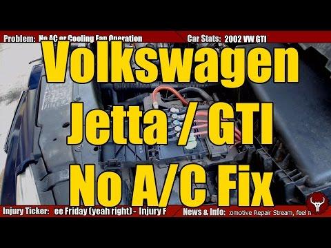 VW Jetta, Beetle, Golf & GTI Mk4 No AC Fix