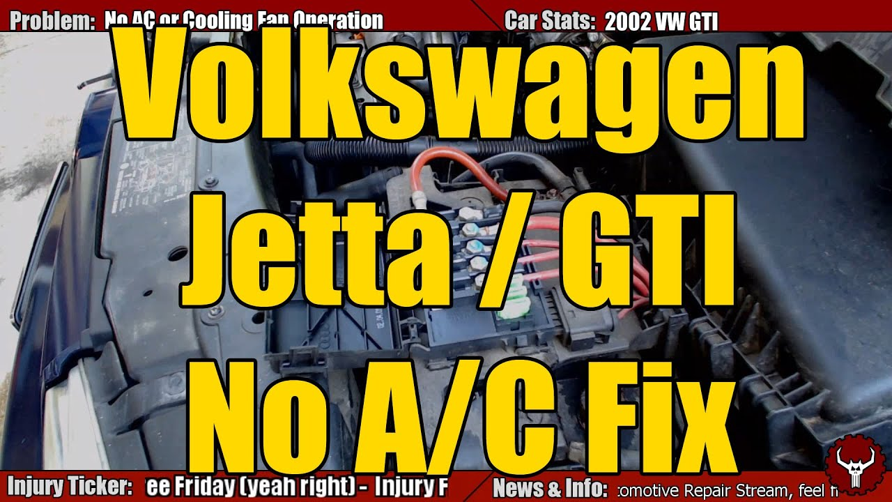 2006 Vw Jetta Air Conditioner Wiring Diagram Schematics 1994 Volkswagen Fuse Box Beetle Golf Gti Mk4 No Ac Fix Youtube Rh Com