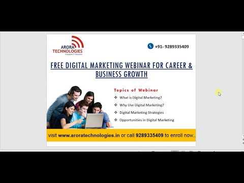 Digital Marketing Course Overview | Digital Marketing Training for Beginners - Arora Technologies