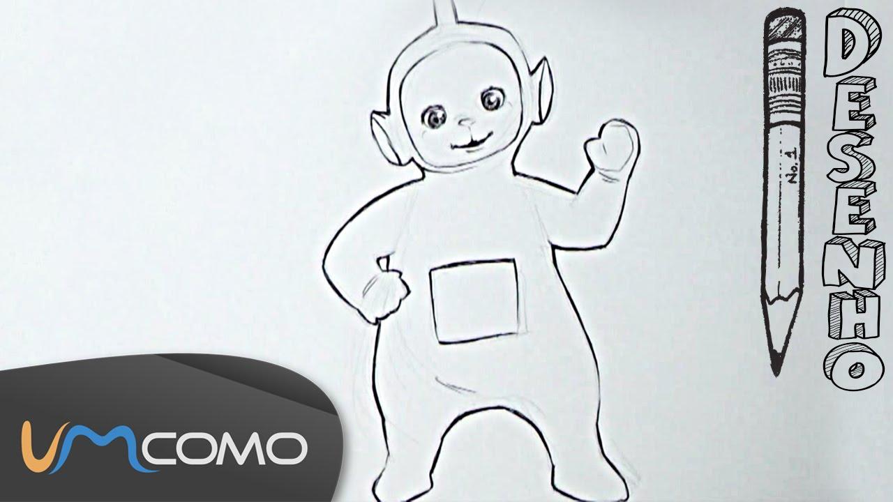 Desenhar O Teletubbie Dipsy Youtube