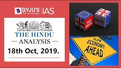 'The Hindu' Analysis for 18th October, 2019 (Current Affairs for UPSC/IAS)