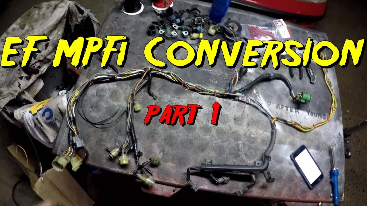 hight resolution of ef wiring harness dpfi to mpfi conversion part 1 engine harness section youtubedpfi to mpfi conversion part