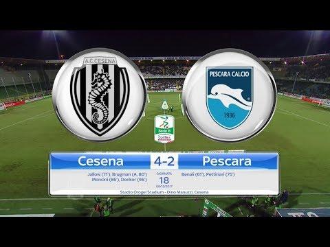 CESENA - PESCARA 4-2, gli highlights